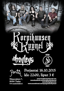 Next Korpikuusen Kyynel gig w/the Hayleys, Sprague Dawley: Portti, Turku, 16.10.2015